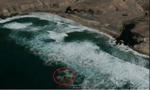 Das Schiffswrack aus der Vogelperpektive (...oder eher Satellitenperpektive?!)