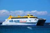 Die Fred Olsen Fähre von Fuerteventura nach Gran Canaria bescherte uns vier sehr schöne und saubere Wellen - danke noch mal und natürlich weiter so ;)