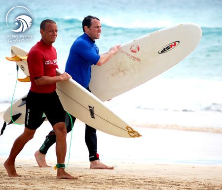 unser Surfcoach Jan und Eli - Traumtag in Jandia